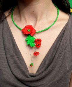 bijuterii cu flori de mac