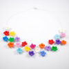 Colier flori de mar colorate, coliere cu flori, coliere elegante cu flori, set coliere cu flori, bijuterii cu flori, bijuterii cu flori colorate, coliere,