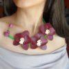 Orhidee handmade, colier orhidee, coliere orhidee, coronita cu orhidee, set orhidee, bijuterii orhidee, orhidee